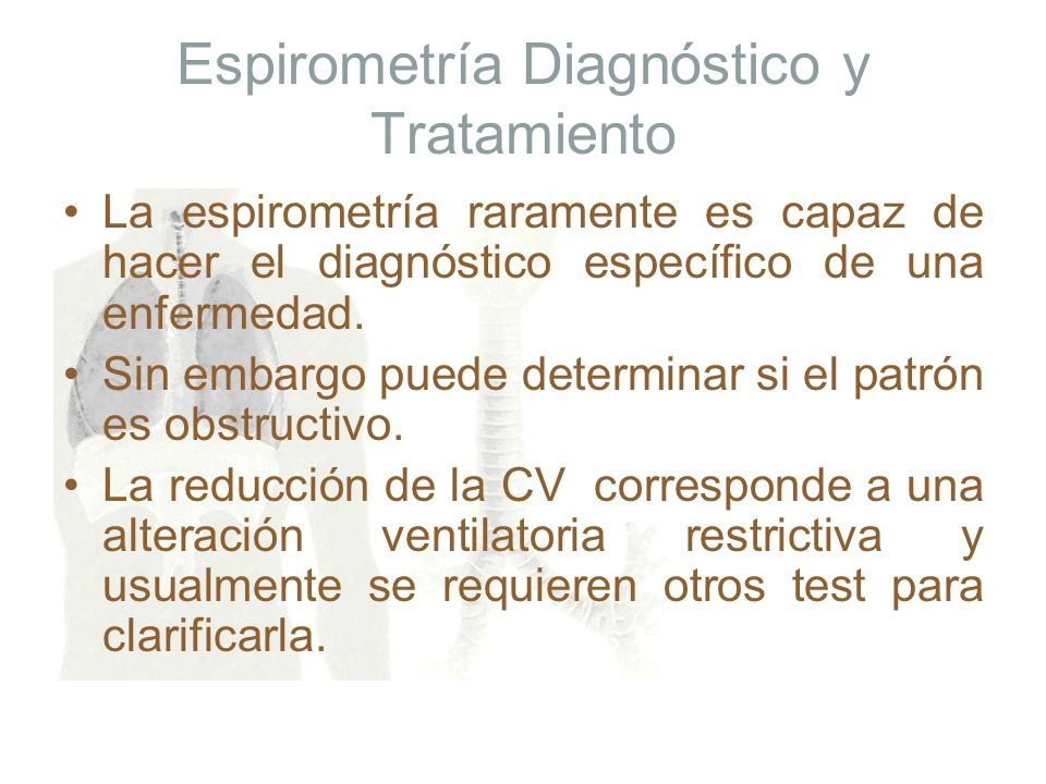 Espirometría Diagnóstico y Tratamiento