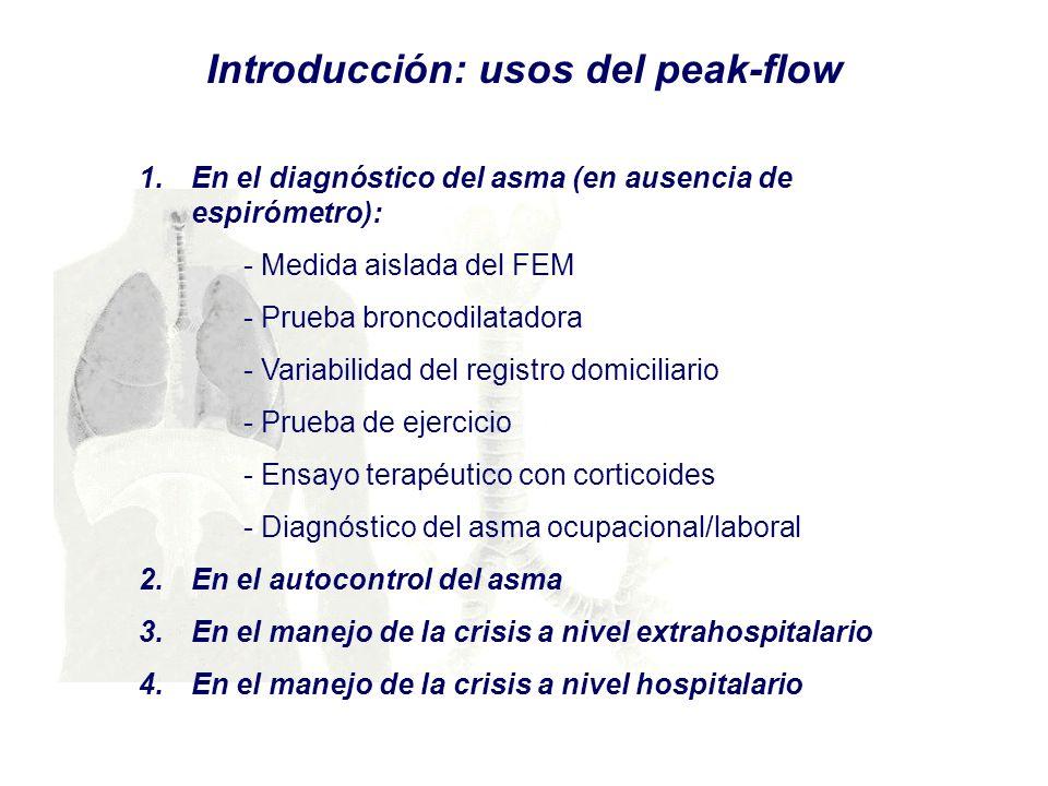 Introducción: usos del peak-flow