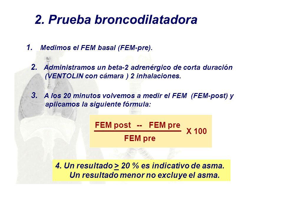 2. Prueba broncodilatadora
