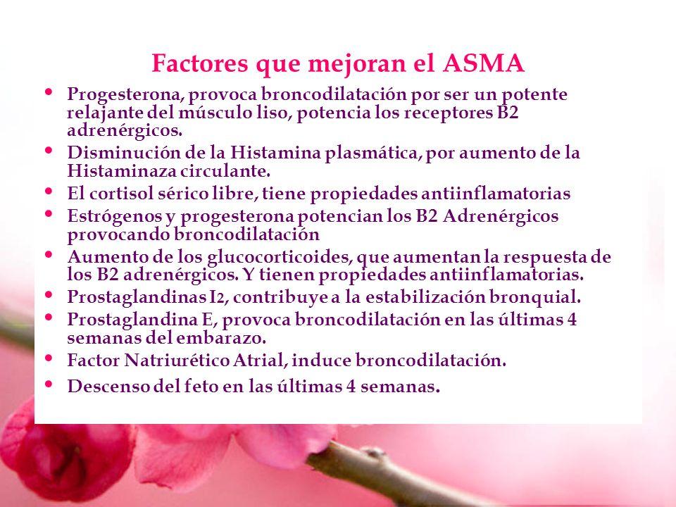Factores que mejoran el ASMA