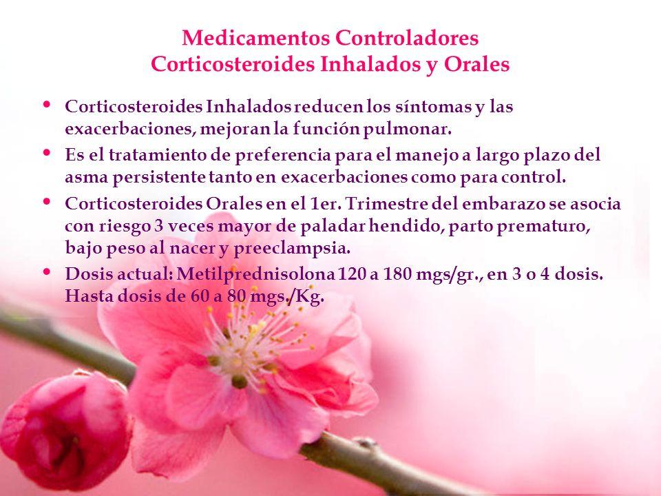 Medicamentos Controladores Corticosteroides Inhalados y Orales
