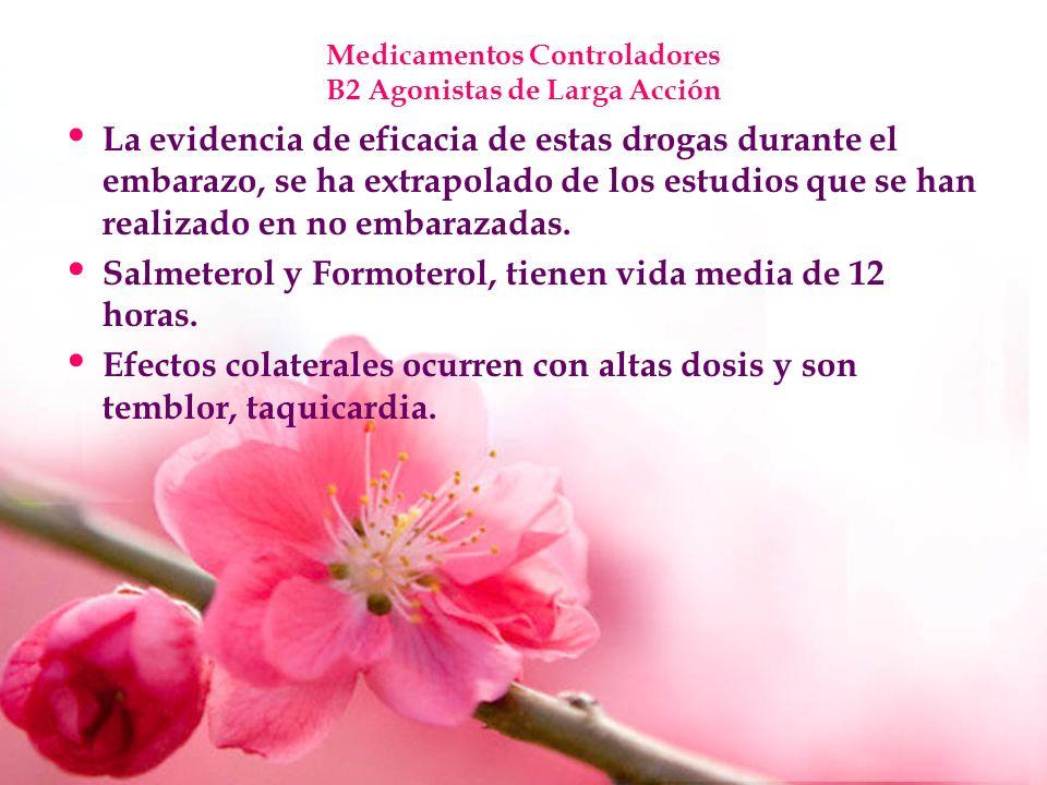 Medicamentos Controladores B2 Agonistas de Larga Acción
