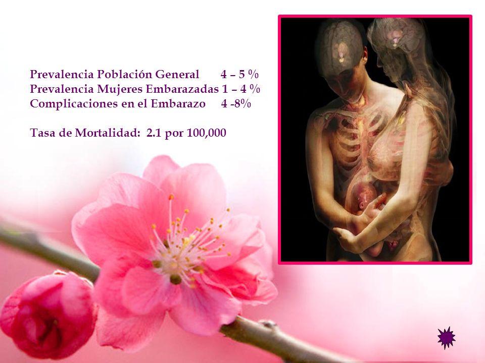 Prevalencia Población General 4 – 5 %