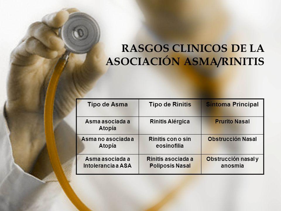 RASGOS CLINICOS DE LA ASOCIACIÓN ASMA/RINITIS