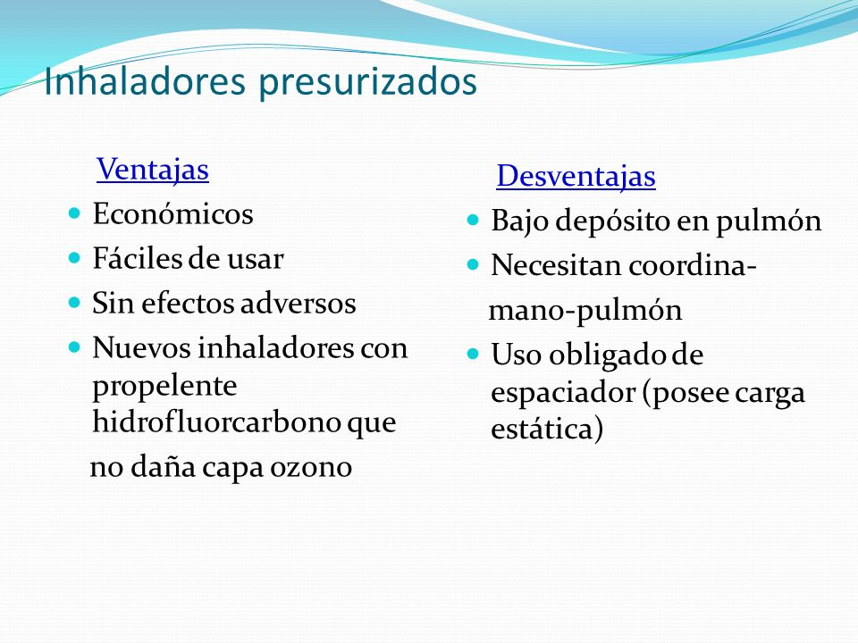 Inhaladores presurizados