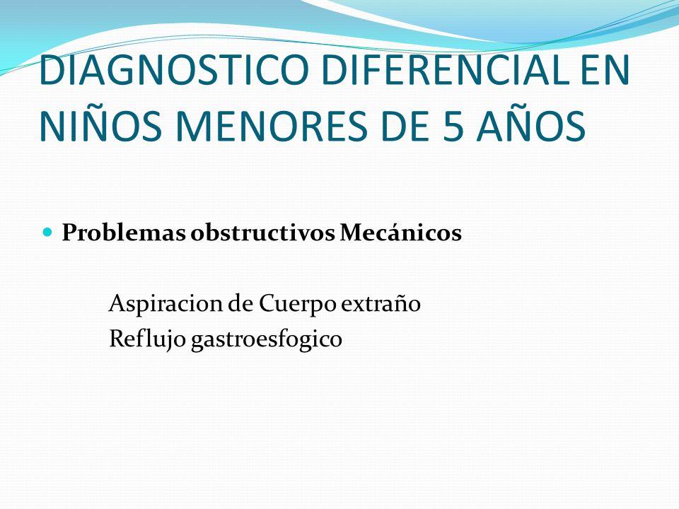 DIAGNOSTICO DIFERENCIAL EN NIÑOS MENORES DE 5 AÑOS