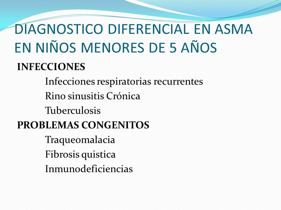 DIAGNOSTICO DIFERENCIAL EN ASMA EN NIÑOS MENORES DE 5 AÑOS