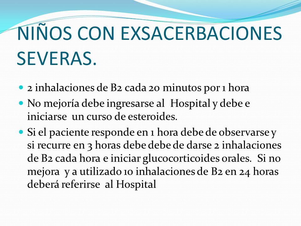 NIÑOS CON EXSACERBACIONES SEVERAS.