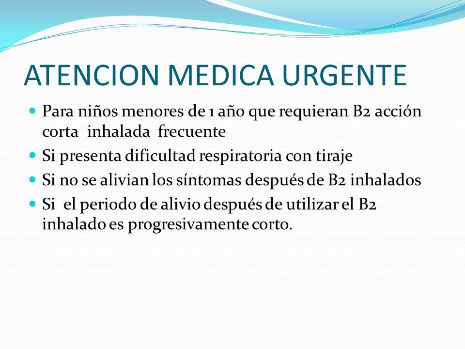 ATENCION MEDICA URGENTE