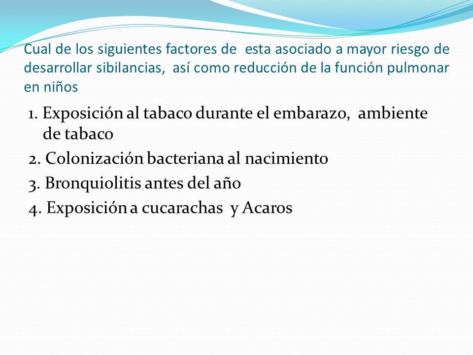 1. Exposición al tabaco durante el embarazo, ambiente de tabaco