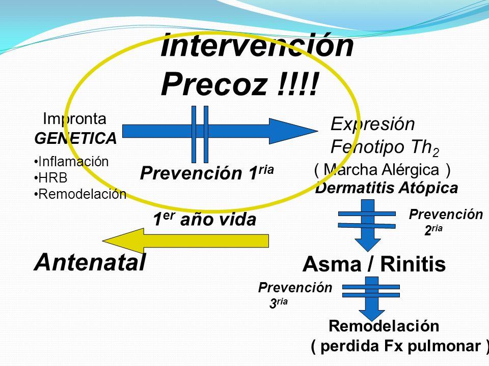 Intervención Precoz !!!! Antenatal Asma / Rinitis Expresión