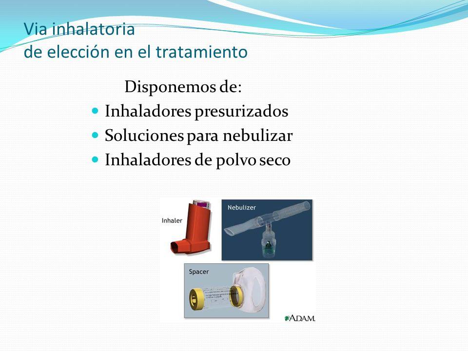 Via inhalatoria de elección en el tratamiento