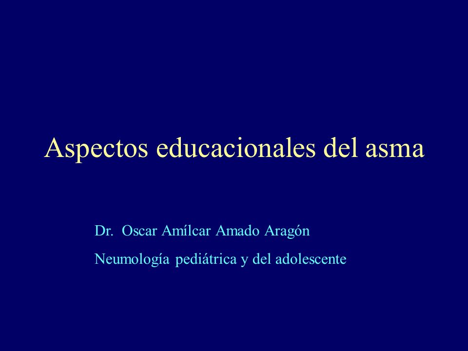 Aspectos educacionales del asma