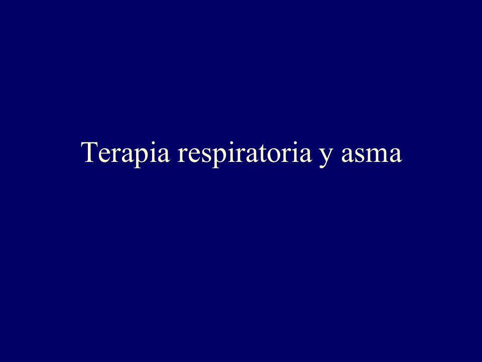 Terapia respiratoria y asma