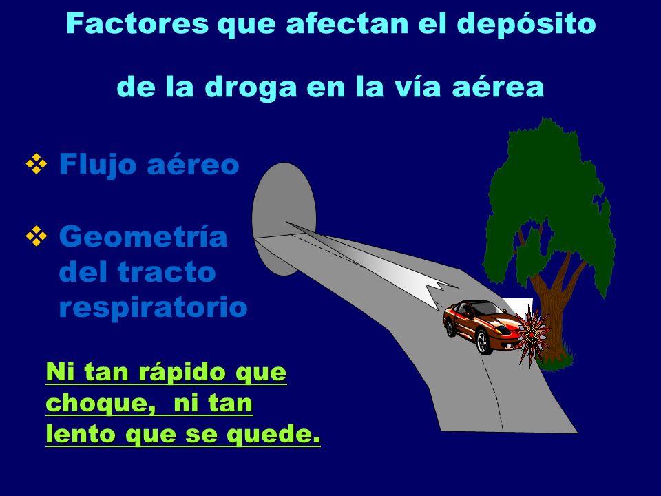 Factores que afectan el depósito de la droga en la vía aérea