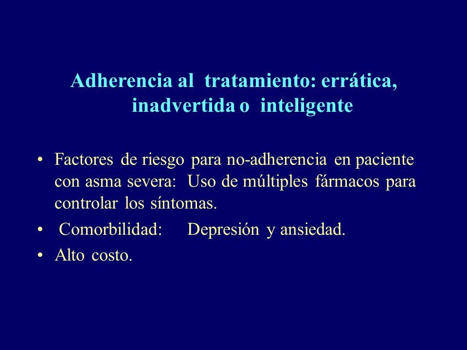Adherencia al tratamiento: errática, inadvertida o inteligente