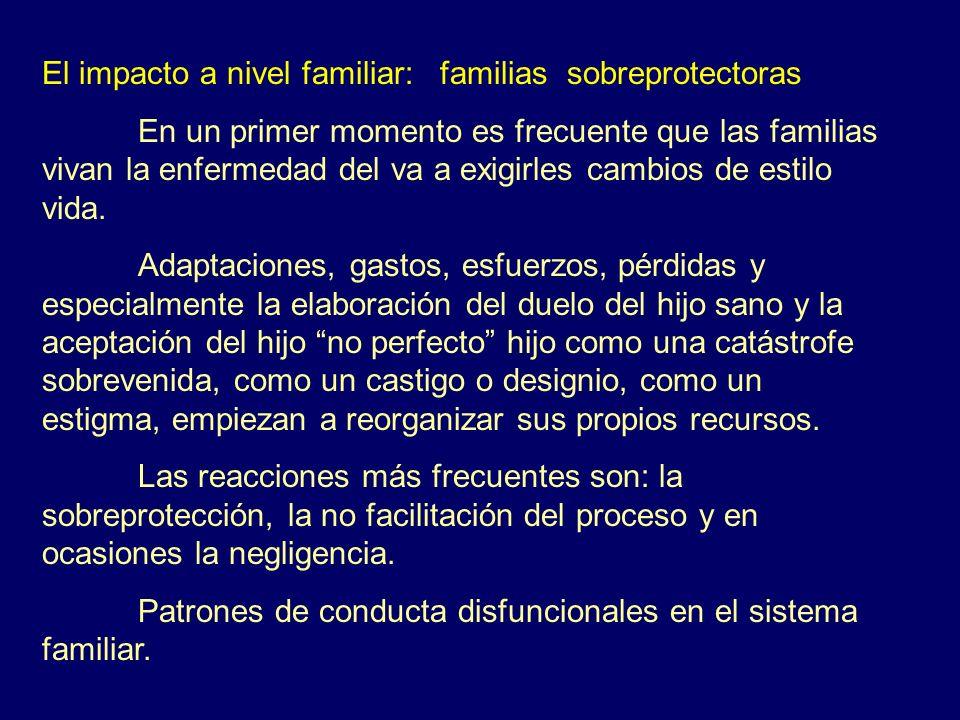 El impacto a nivel familiar: familias sobreprotectoras