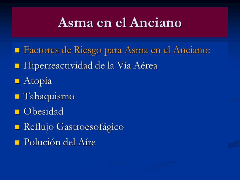 Asma en el Anciano Factores de Riesgo para Asma en el Anciano: