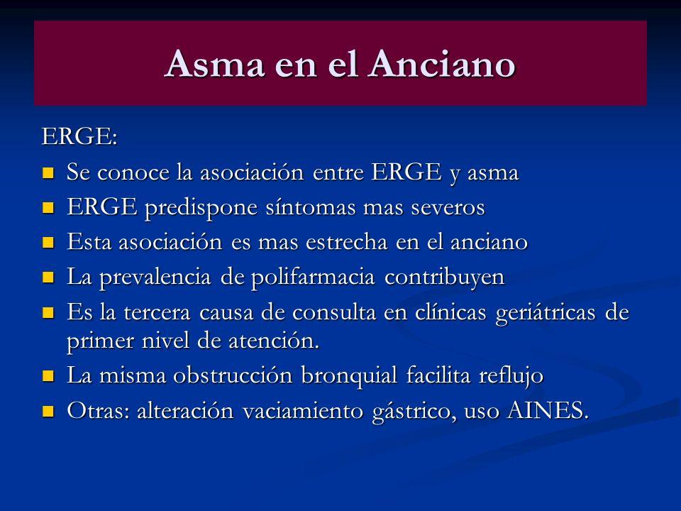 Asma en el Anciano ERGE: Se conoce la asociación entre ERGE y asma