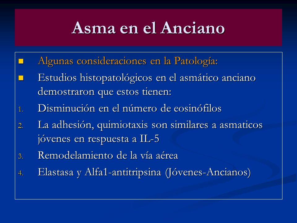 Asma en el Anciano Algunas consideraciones en la Patología: