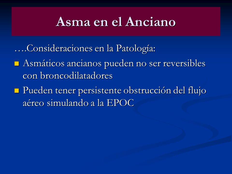 Asma en el Anciano ….Consideraciones en la Patología: