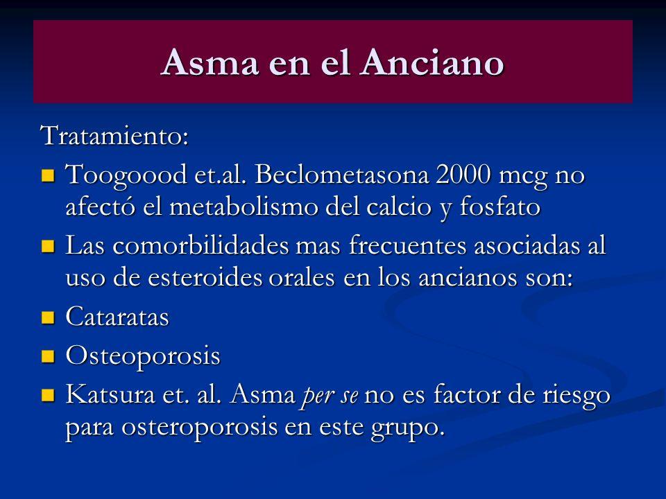 Asma en el Anciano Tratamiento: