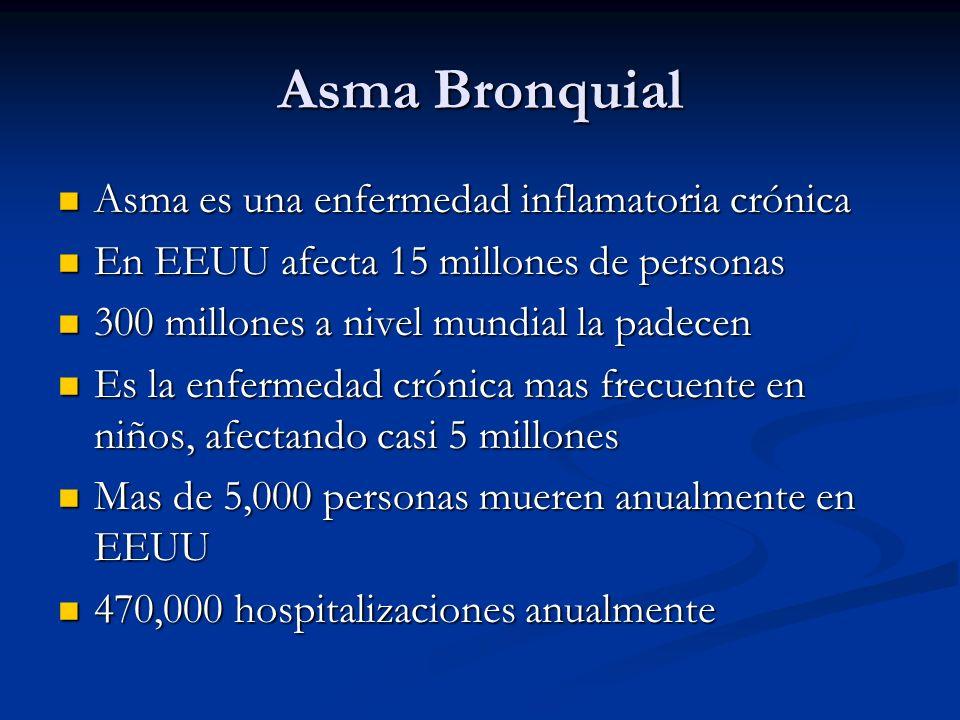 Asma Bronquial Asma es una enfermedad inflamatoria crónica