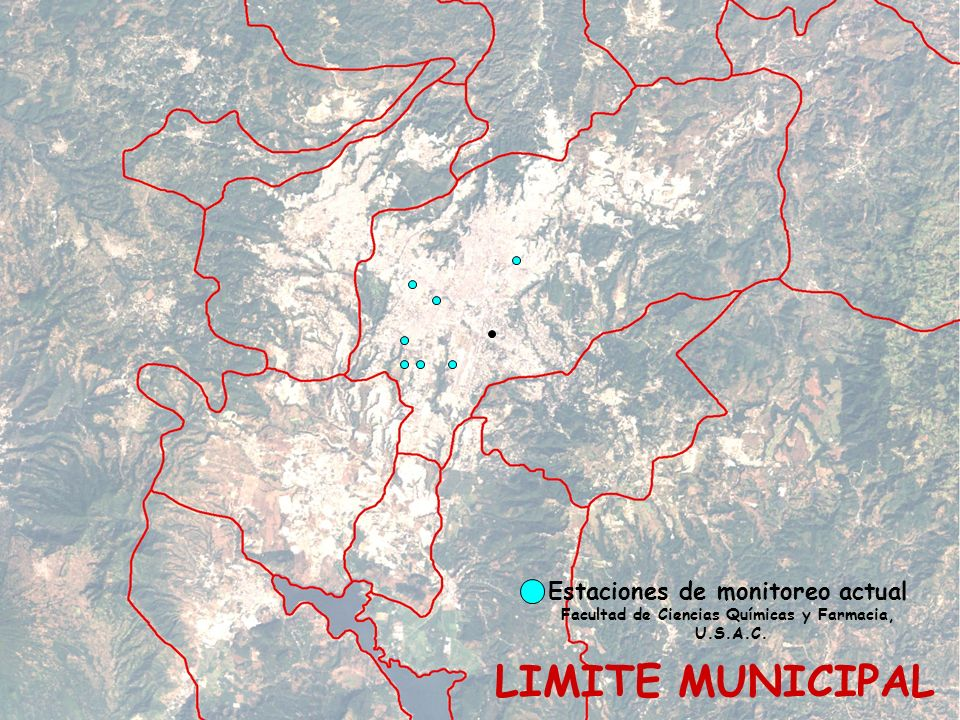 LIMITE MUNICIPAL Estaciones de monitoreo actual