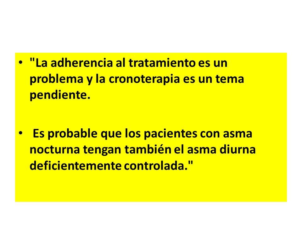 La adherencia al tratamiento es un problema y la cronoterapia es un tema pendiente.