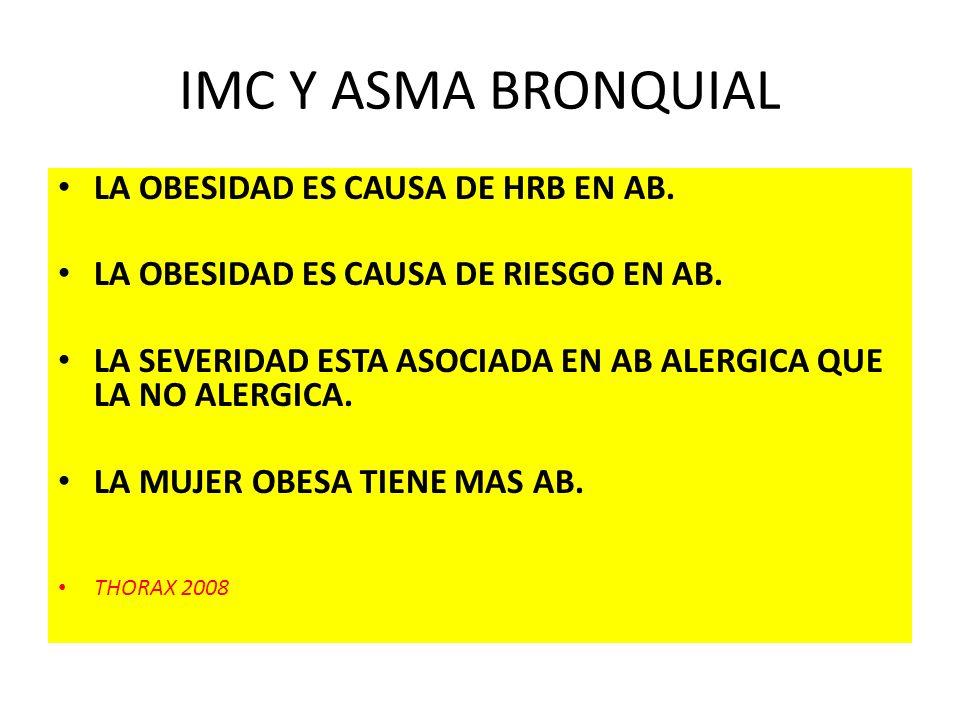 IMC Y ASMA BRONQUIAL LA OBESIDAD ES CAUSA DE HRB EN AB.