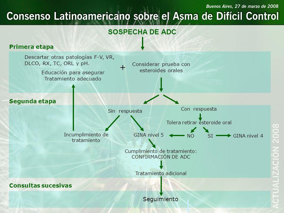1 + SOSPECHA DE ADC Primera etapa Segunda etapa Consultas sucesivas