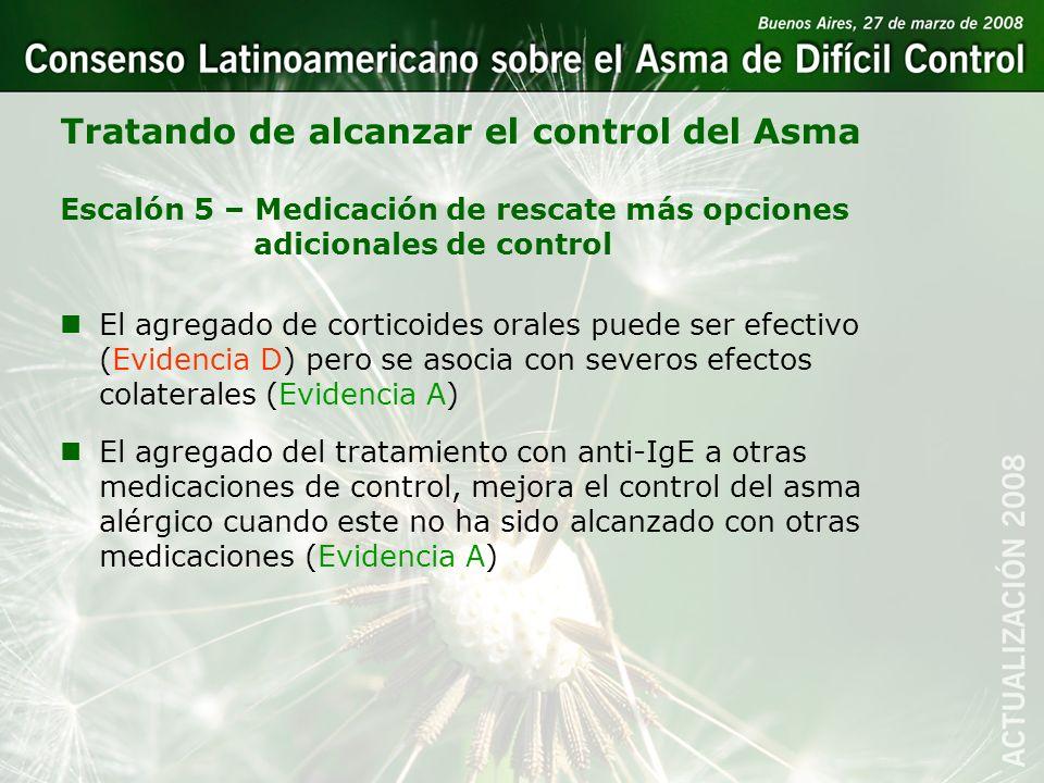 Tratando de alcanzar el control del Asma