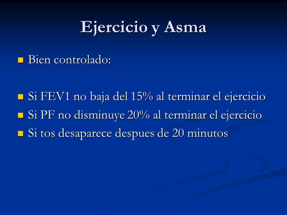 Ejercicio y Asma Bien controlado:
