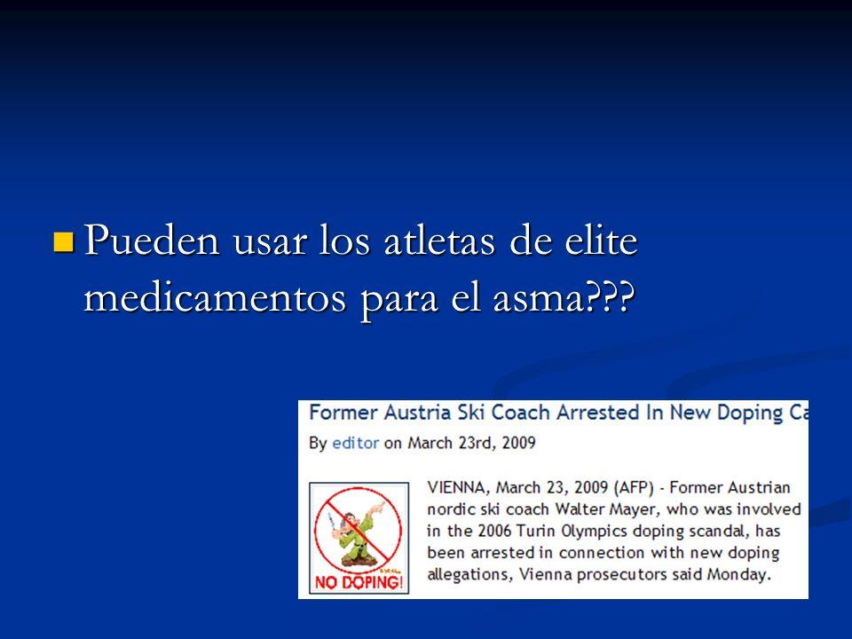 Pueden usar los atletas de elite medicamentos para el asma