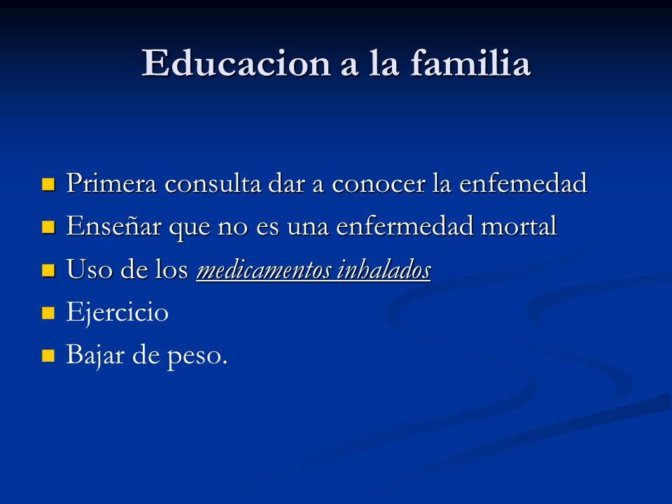 Educacion a la familia Primera consulta dar a conocer la enfemedad