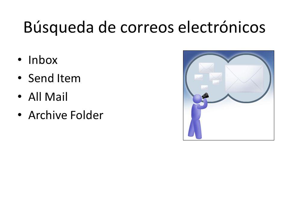 Búsqueda de correos electrónicos