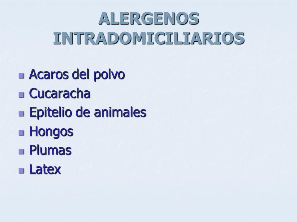 ALERGENOS INTRADOMICILIARIOS