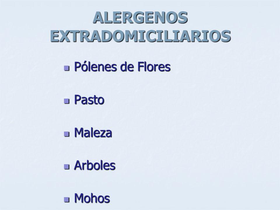 ALERGENOS EXTRADOMICILIARIOS