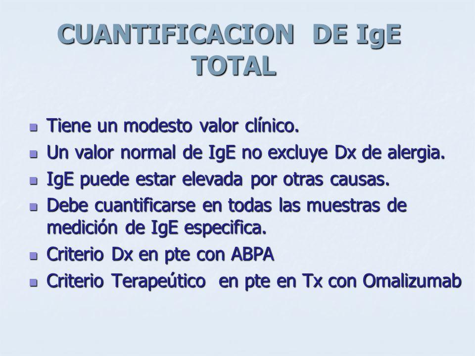 CUANTIFICACION DE IgE TOTAL