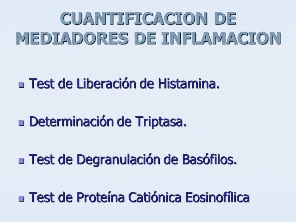 CUANTIFICACION DE MEDIADORES DE INFLAMACION