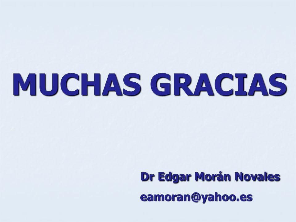 MUCHAS GRACIAS Dr Edgar Morán Novales eamoran@yahoo.es
