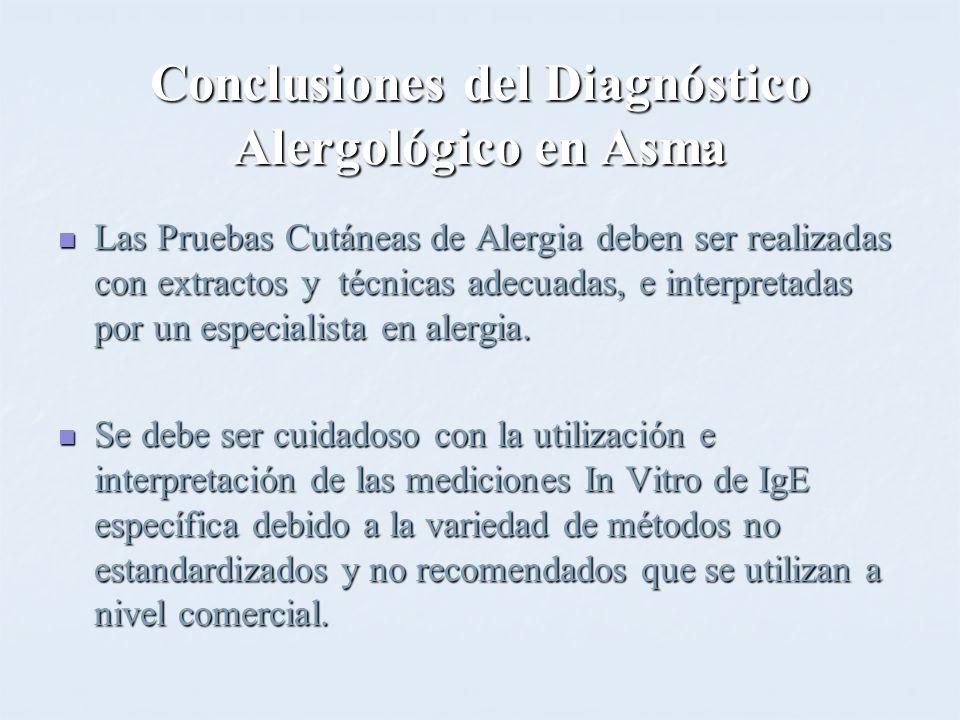 Conclusiones del Diagnóstico Alergológico en Asma