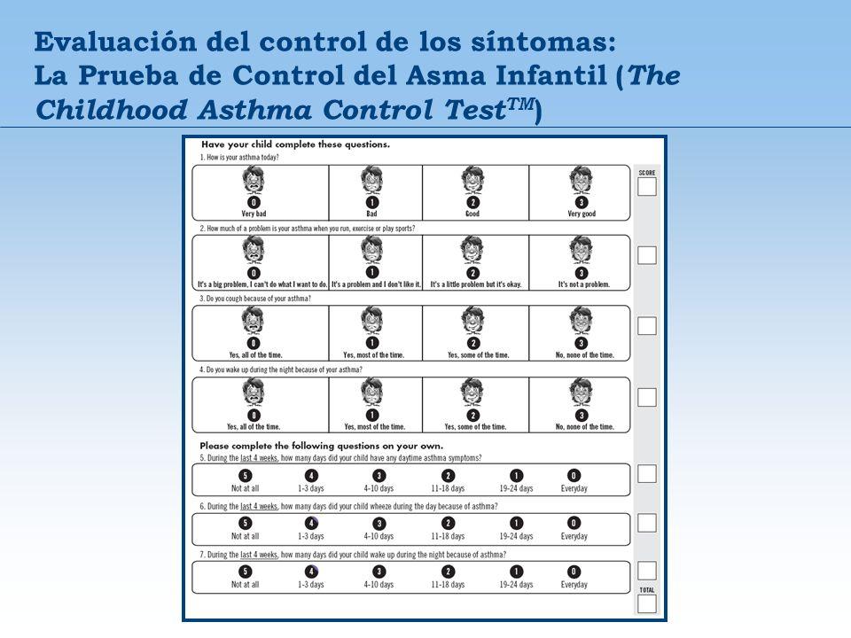 Evaluación del control de los síntomas: La Prueba de Control del Asma Infantil (The Childhood Asthma Control TestTM)