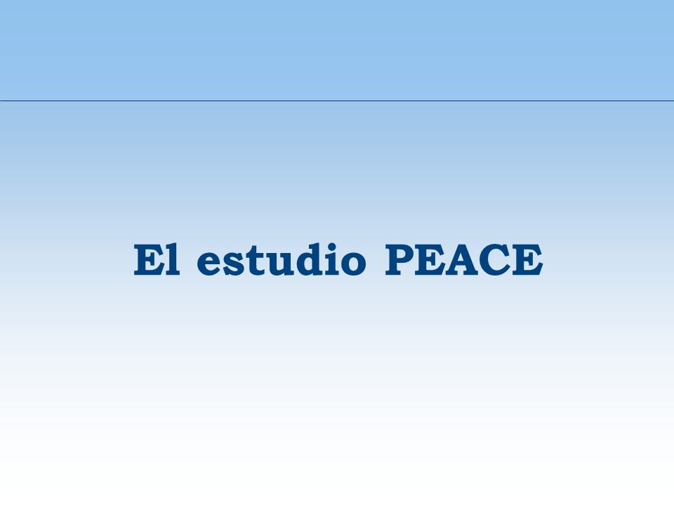 El estudio PEACE 33
