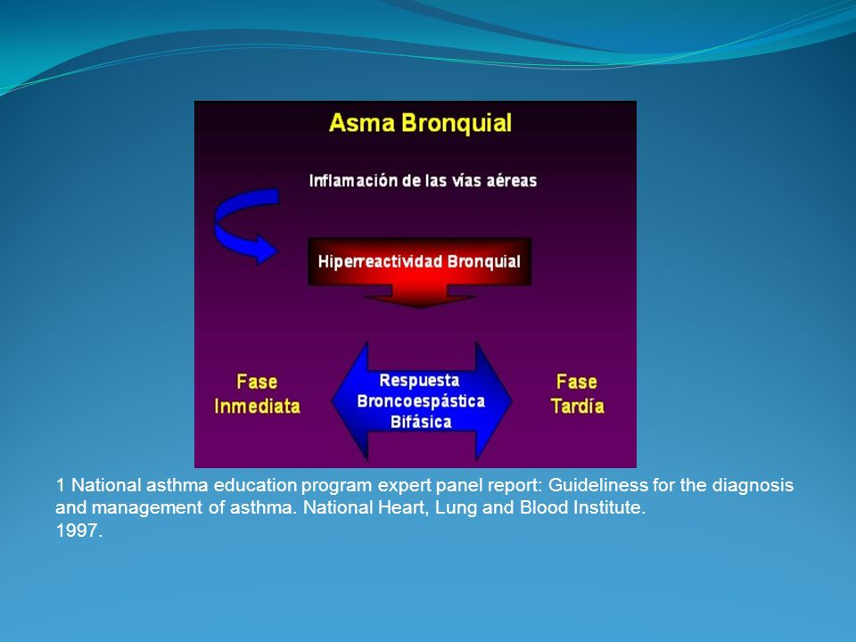 1 National asthma education program expert panel report: Guideliness for the diagnosis and management of asthma.