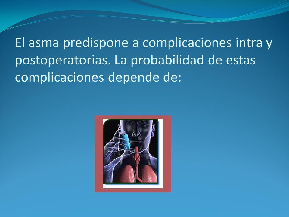 El asma predispone a complicaciones intra y postoperatorias