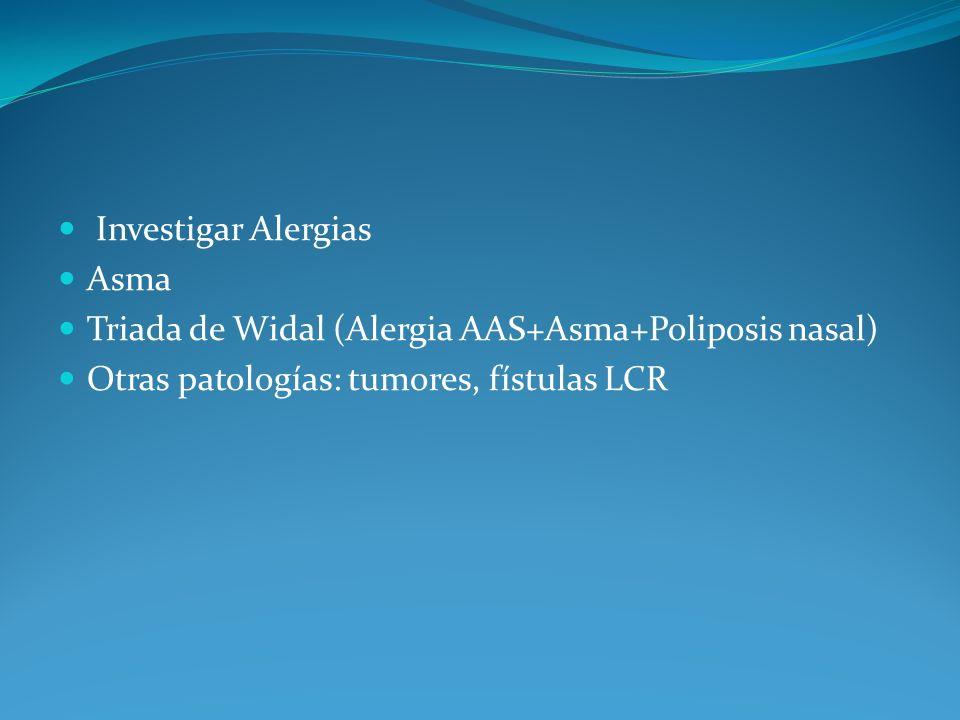 Investigar Alergias Asma.