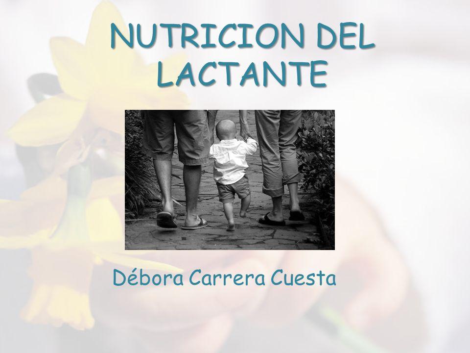 NUTRICION DEL LACTANTE
