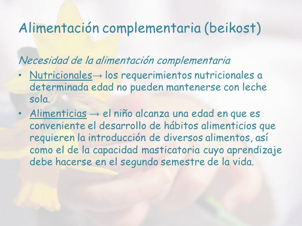 Alimentación complementaria (beikost)