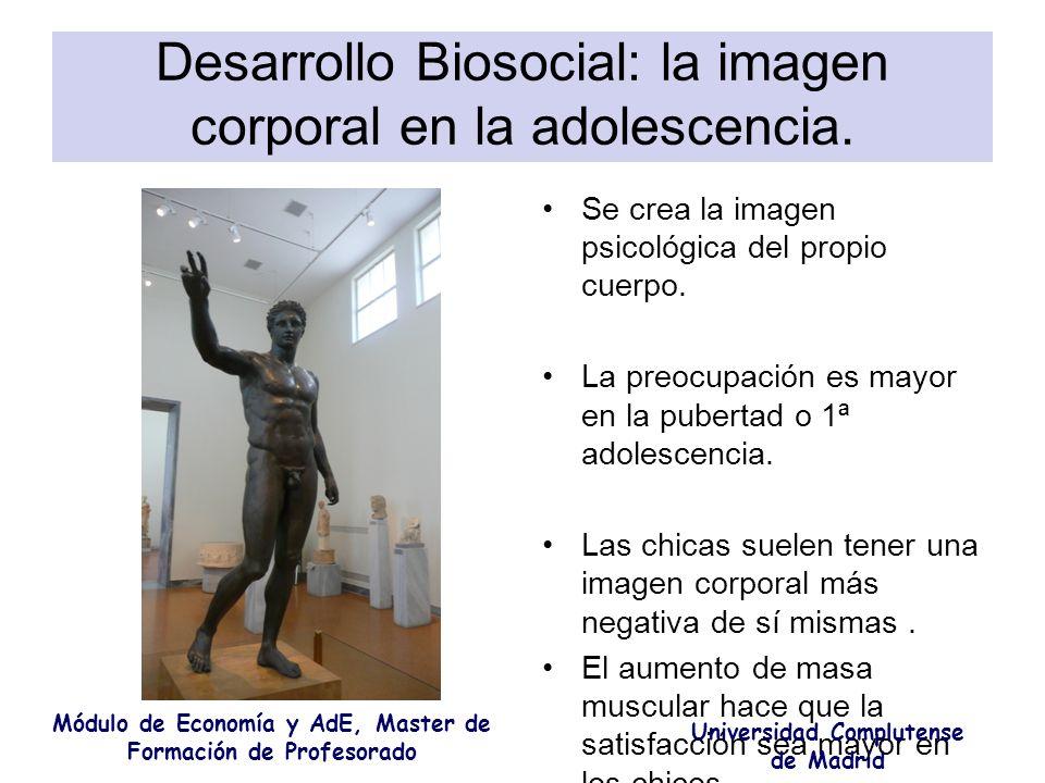 Desarrollo Biosocial: la imagen corporal en la adolescencia.